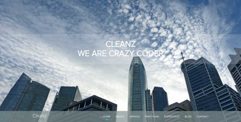 Cleanz - 41+ Awesome Parallax Landing Page Themes [year]