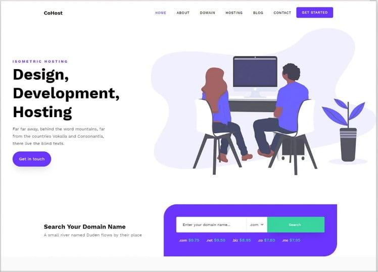 Cohost - 77+ Best Free HTML & CSS Clean Simple Website Templates [year]
