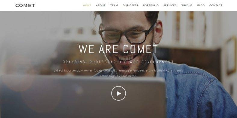Comet - 36+ Best One Page Modern and Creative HTML Templates [year]