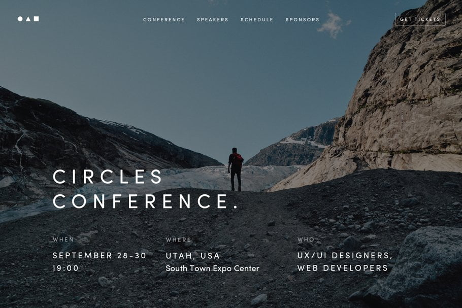 Conference - 41+ Awesome Parallax Landing Page Themes [year]