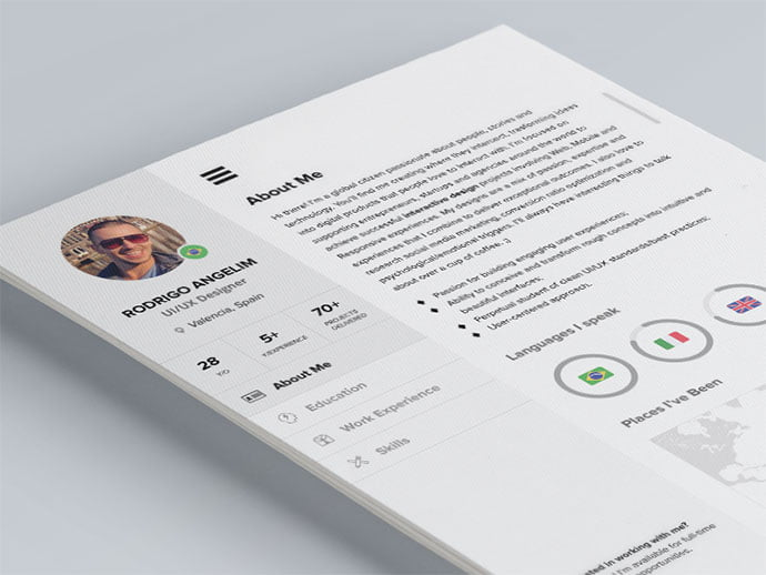 Cool-CV - 41+ Free HTML PSD & InDesign CV Resume Templates [year]