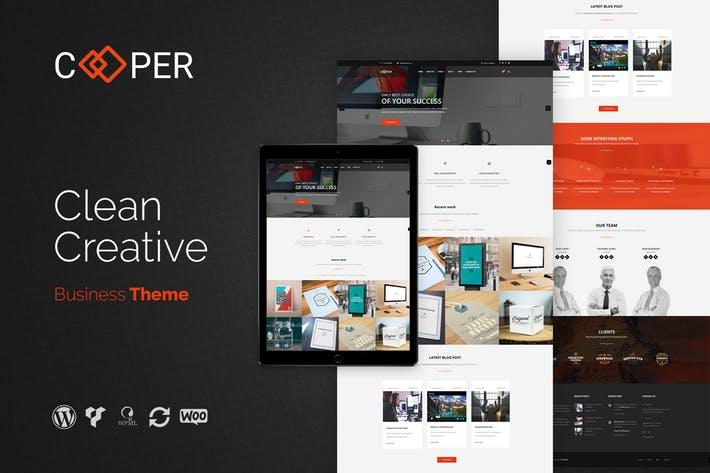 Cooper - 50+ Best Portfolio WordPress Theme Design [year]