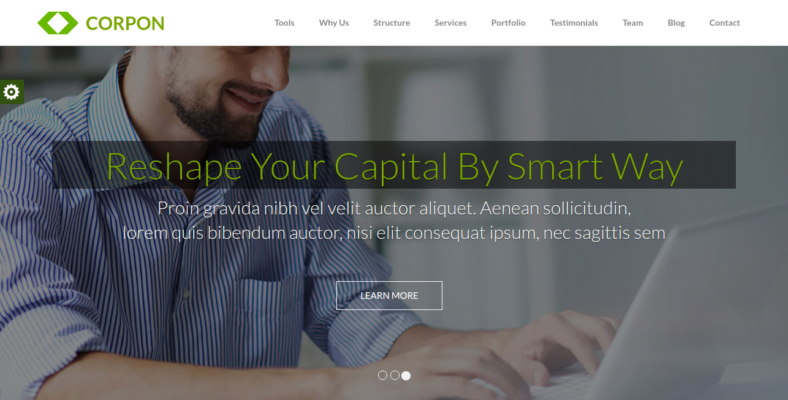 Corpon - 41+ Awesome Parallax Landing Page Themes [year]