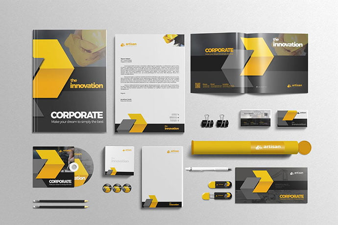 Corporate-Identity - 35+ Remarkable Stationery Branding Design Templates [year]