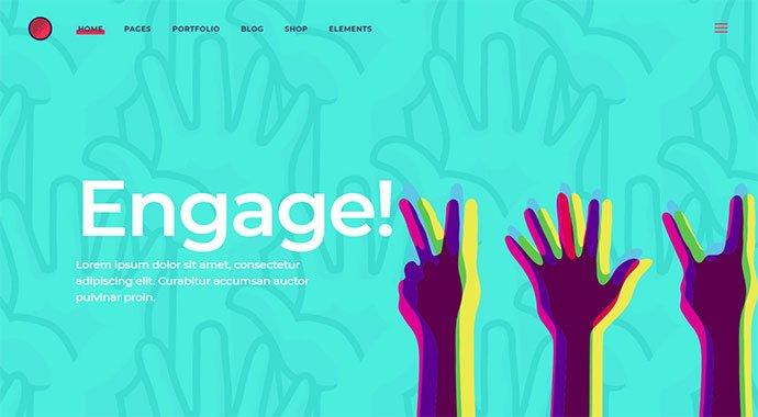 Cortex - 31+ Impressive Big Fonts & Bright Colors WordPress Themes [year]