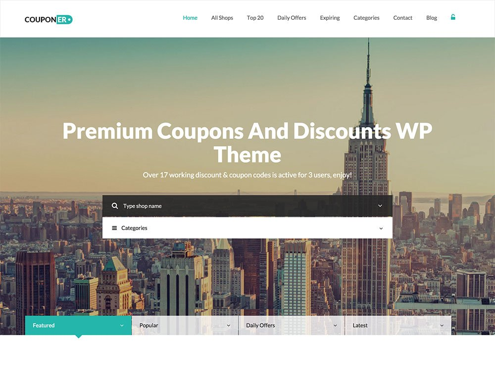 Couponer - 26+ Amazing WordPress Coupon Themes and Plugins [year]