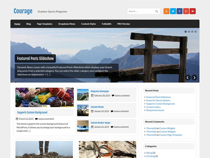 Courage - 61+ Free Creating Responsive WordPress Themes [year]