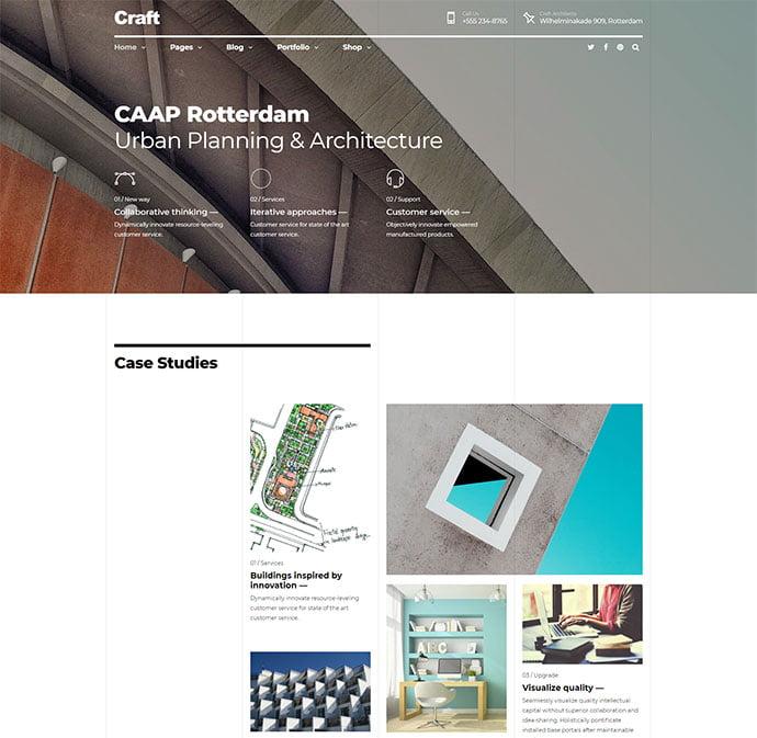 Craft-Portfolio - 36+ Amazing WordPress Themes For Architect Portfolio [year]