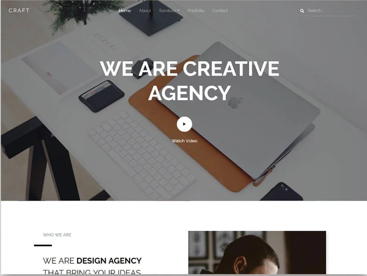 Craft - 77+ Best Free HTML & CSS Clean Simple Website Templates [year]