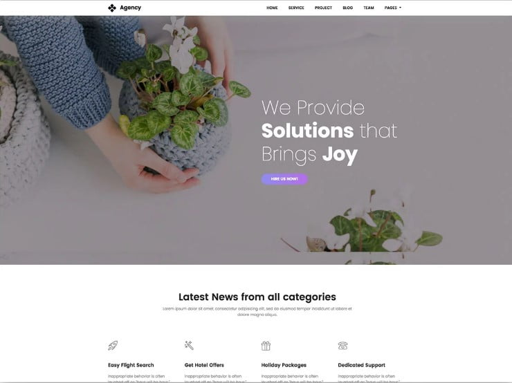 Creative-Agency-1 - 77+ Best Free HTML & CSS Clean Simple Website Templates [year]
