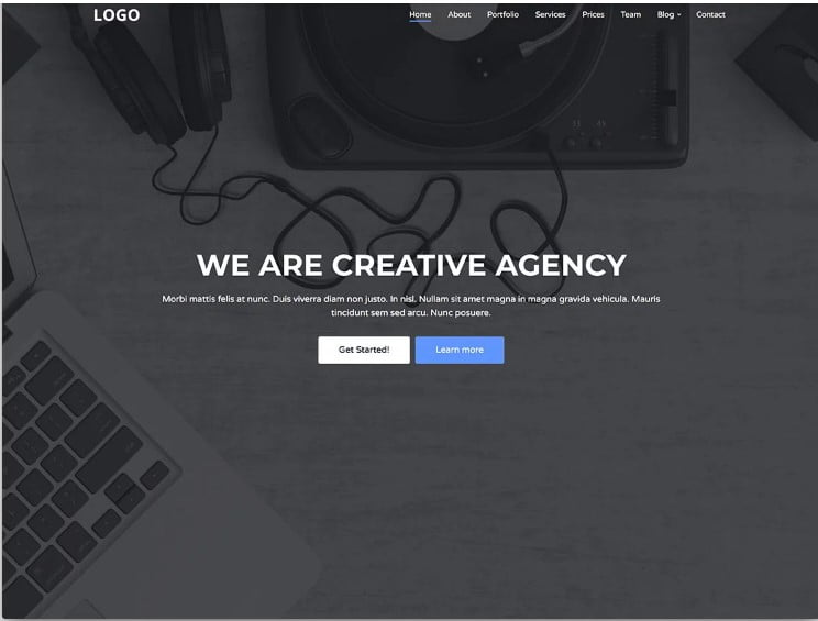 Creative-Agency - 77+ Best Free HTML & CSS Clean Simple Website Templates [year]