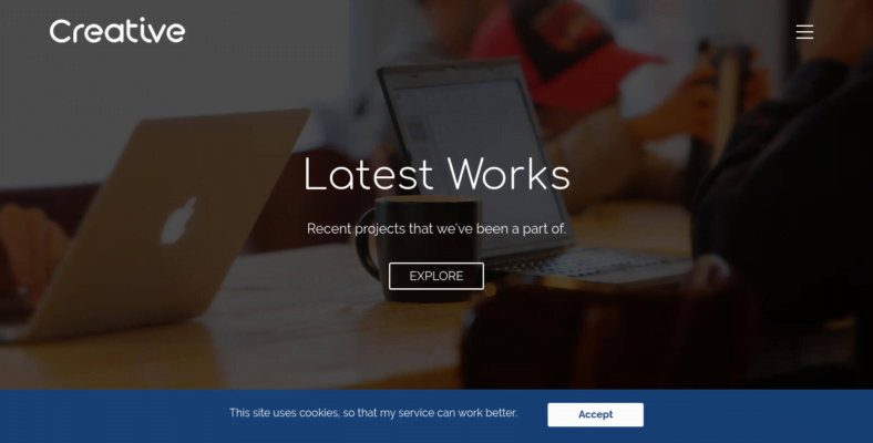 Creative-Business - 41+ Awesome Parallax Landing Page Themes [year]