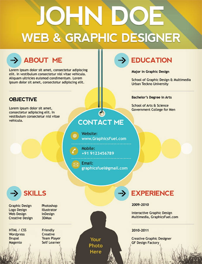 Creative-resume - 41+ Free HTML PSD & InDesign CV Resume Templates [year]