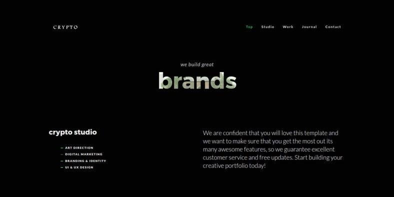 Crypto - 36+ Best One Page Modern and Creative HTML Templates [year]