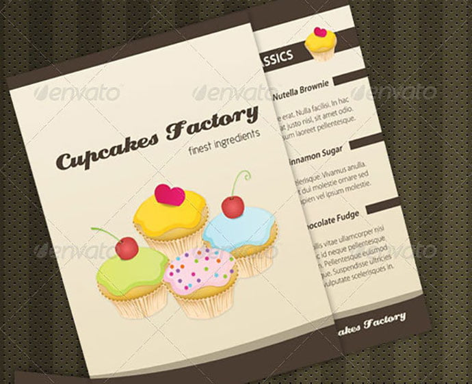 Cupcakes-Bakery-Menu-Brochure - 35+ NICE Cake and Bakery Menu Design [year]