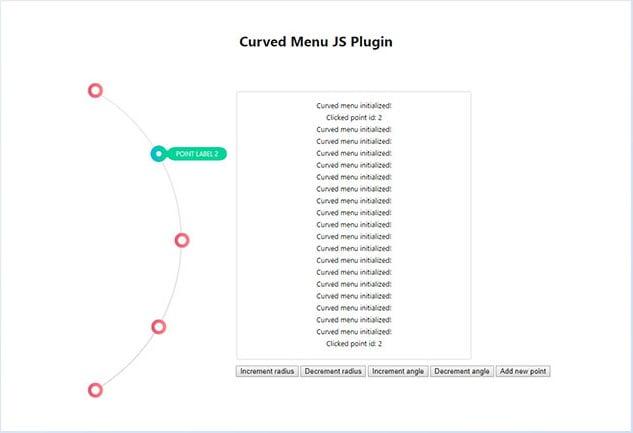Curved-Menu - 31+ Important Javascript Navigation Menu Libraries [year]