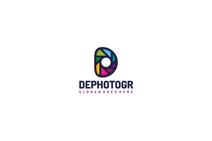D-Letter-Photography-Logo - 50+ BEST Single Letter Business Logo Template [year]
