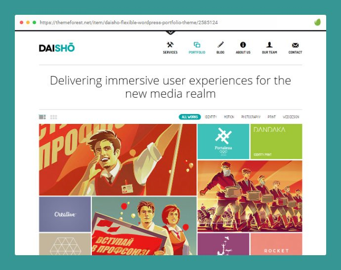 Daisho - 30+ Awesome Showcasing Illustrations WordPress Themes [year]