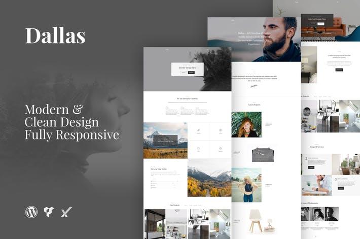 Dallas-Minimal-Portfolio-Business - 50+ Best Portfolio WordPress Theme Design [year]