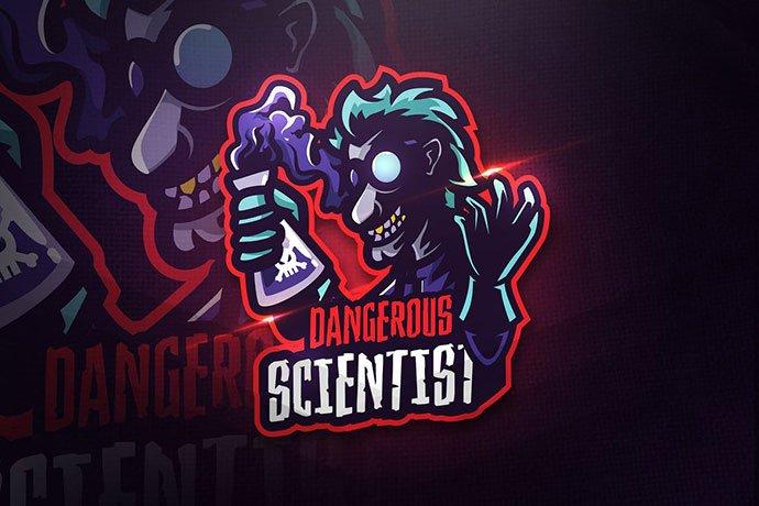 Dangerous-Scientist - 60+ Personal & Team Branding AI & EPS eSports Logo Templates [year]