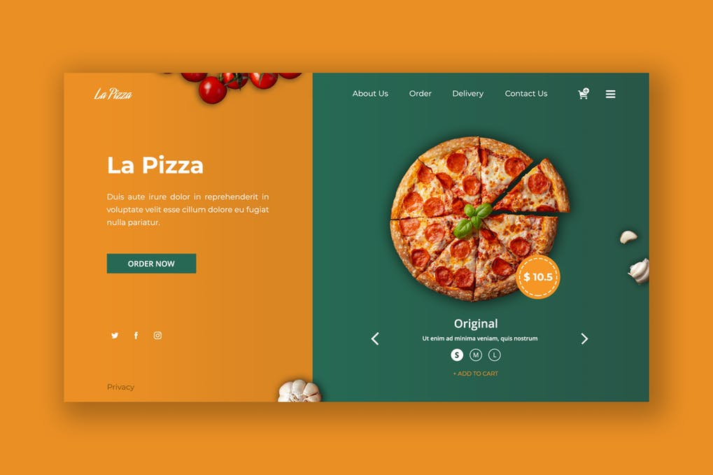 Delicious-Pizza-1 - 31+ Amazing Hero Image PSD Illustration Templates [year]