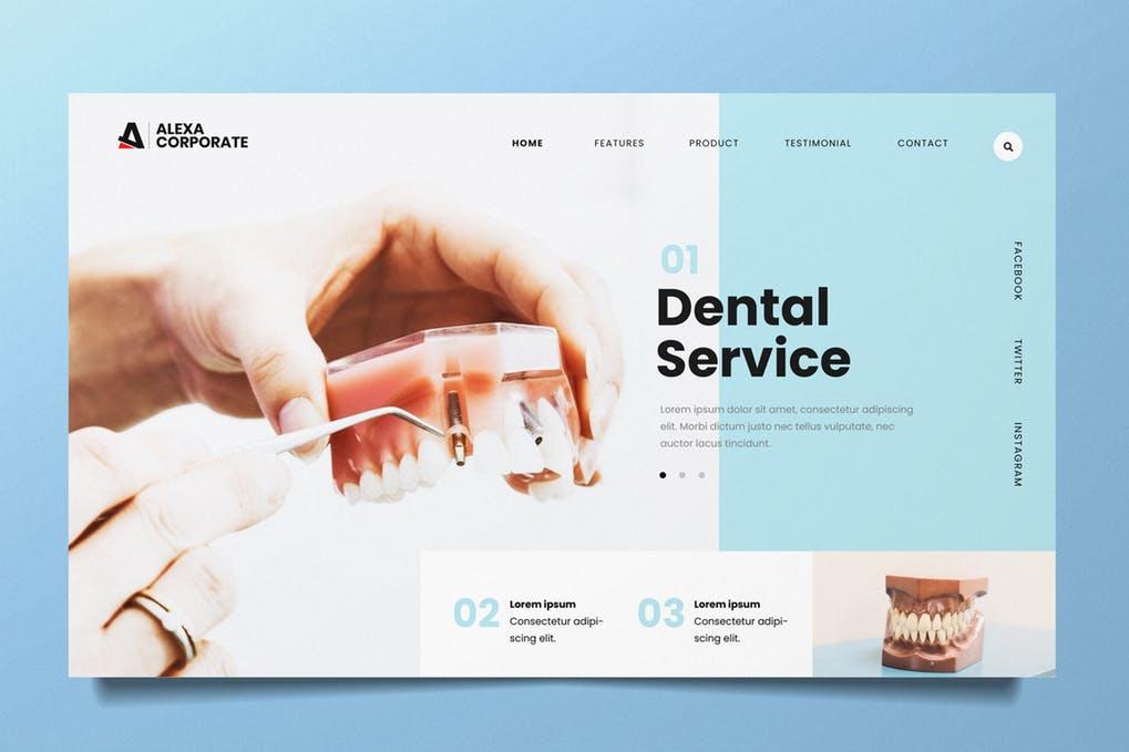 Dental-Clinic-1 - 31+ Amazing Hero Image PSD Illustration Templates [year]