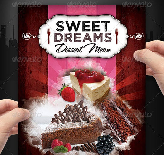 Dessert-and-sweets-Menu-Flyer - 35+ NICE Cake and Bakery Menu Design [year]