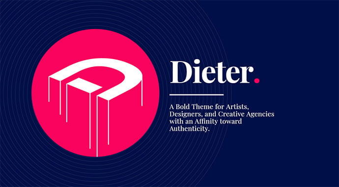 Dieter - 31+ Impressive Big Fonts & Bright Colors WordPress Themes [year]