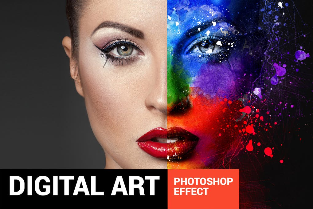 Digital-Art - 30+ Awesome Splatter Painting Effect Photoshop Actions [year]