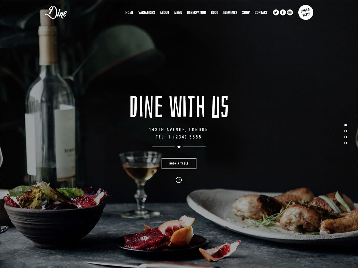 Dine - 51+ Best Restaurant WordPress Themes [year]