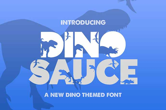 Dinosauce-Font - 51+ Stunning Travel Theme Designs Fonts For Your Website [year]