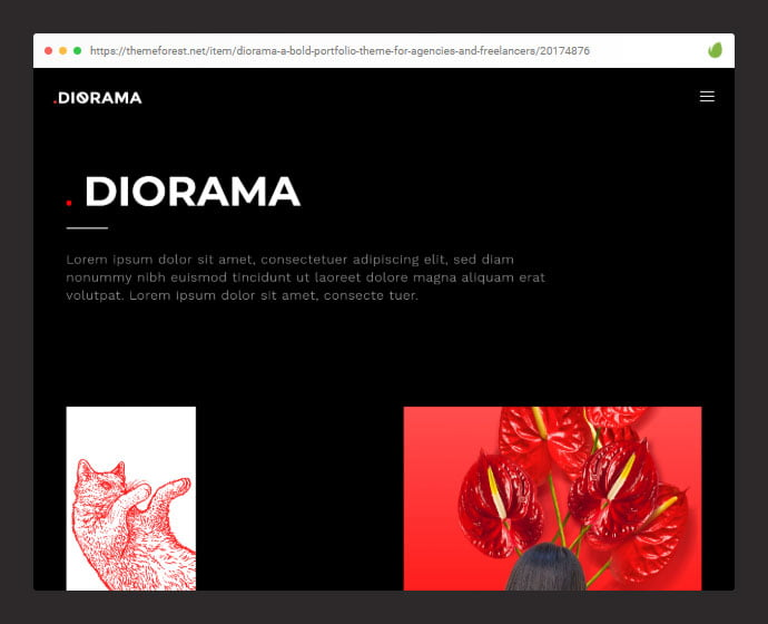 Diorama-1 - 30+ Awesome Showcasing Illustrations WordPress Themes [year]