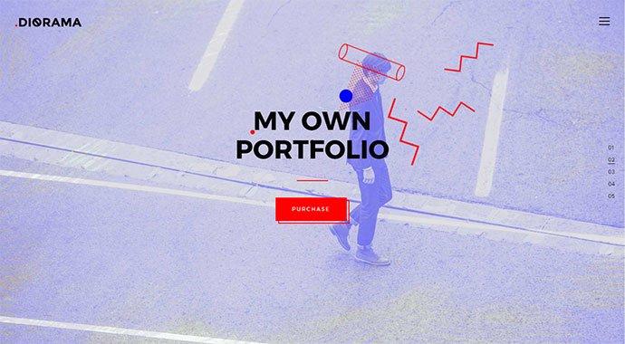 Diorama - 30+ Fullscreen Slider Portfolio WordPress Themes [year]