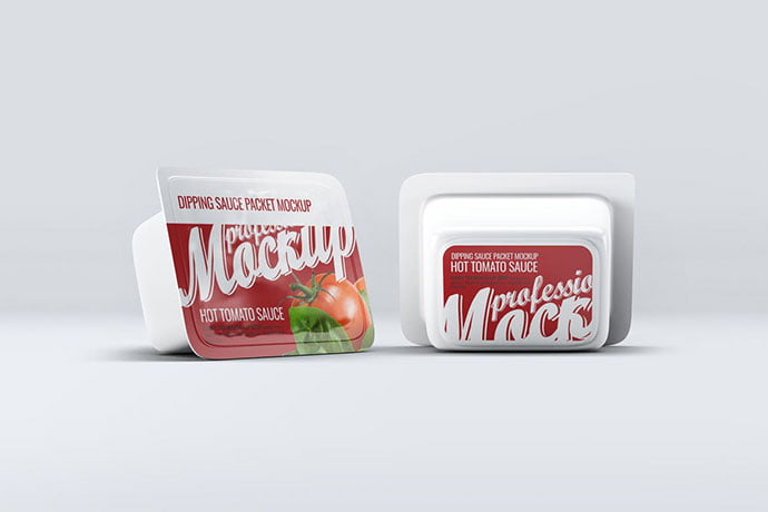 Dipping-Sauce - 60+ Delicious Food Packaging PSD Mockup Design Templates [year]