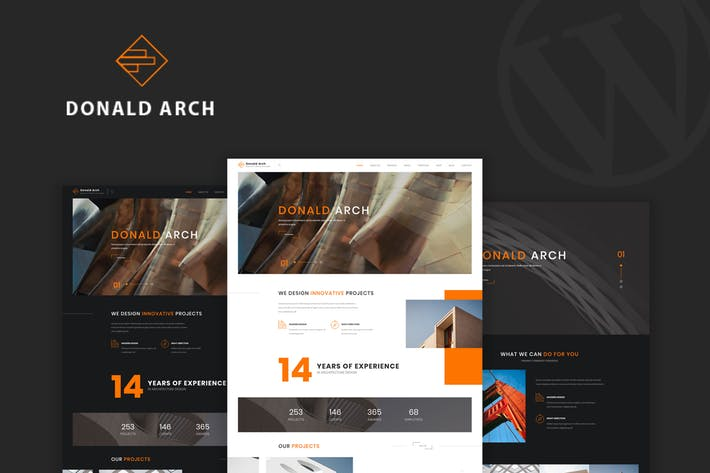Donald-Arch - 50+ Best Portfolio WordPress Theme Design [year]