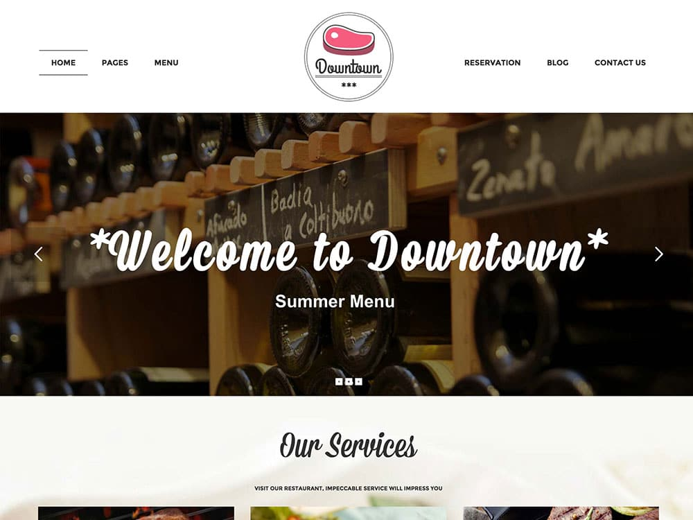 Downtown - 51+ Best Restaurant WordPress Themes [year]