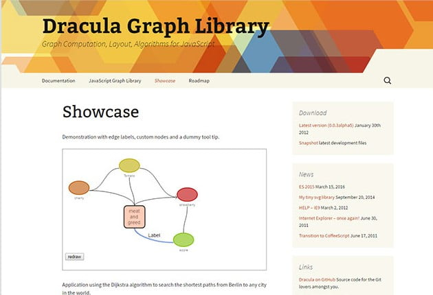 Dracula.js - 40+ BEST Free Javascript Chart & Graph Libraries [year]