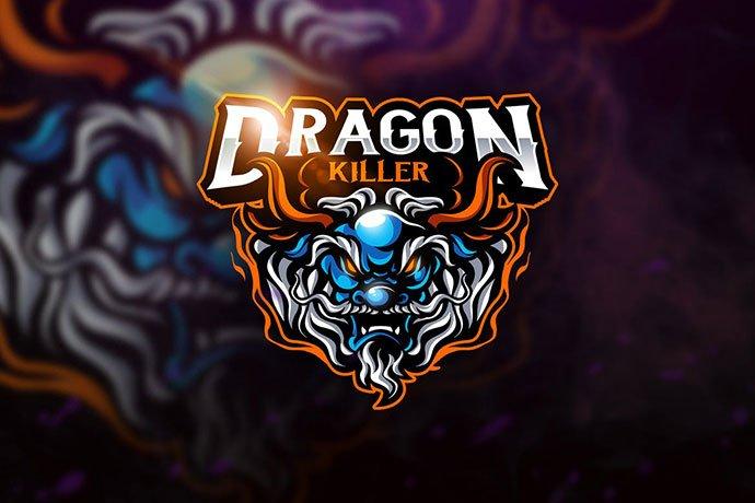 Dragon-Killer - 60+ Personal & Team Branding AI & EPS eSports Logo Templates [year]