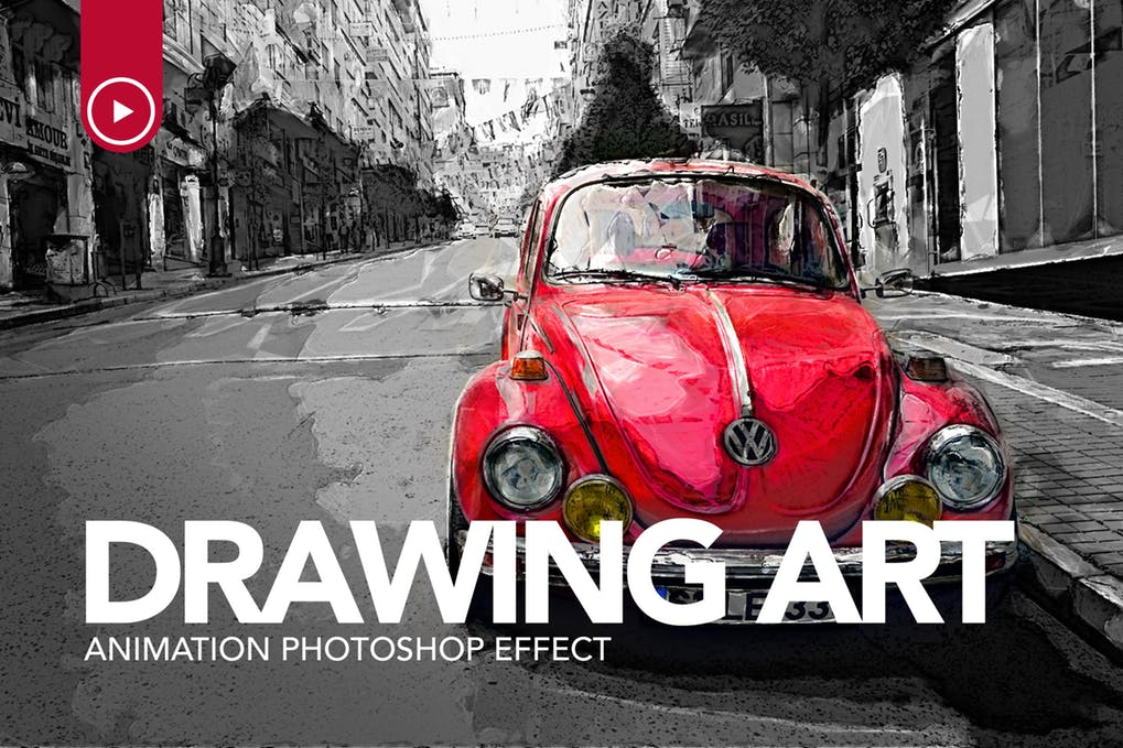 Drawing-Art - 35+ Awesome Animated GIF Photoshop Actions [year]