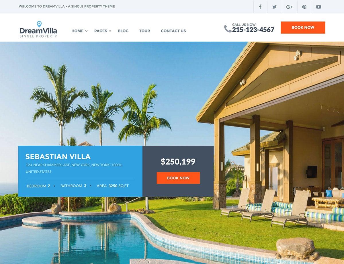 DreamVilla - 36+ Best WordPress Real Estate Themes [year]