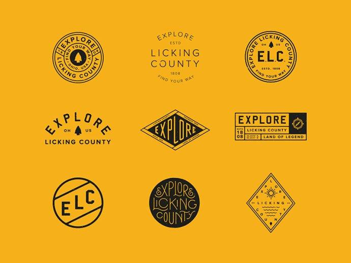 ELC-Assets-by-Aaron-Marks - 50+ Fantastic BEST FREE Typographic Logo Badge Designs
