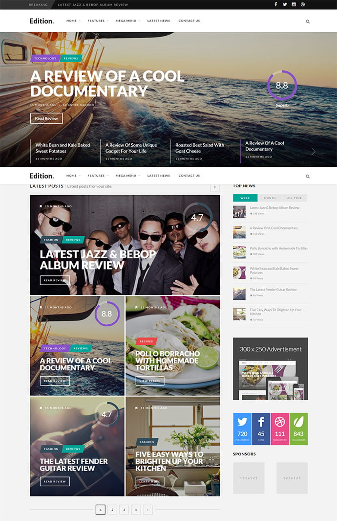Edition - 45+ Magazine & Blog WordPress Themes To Make Your Website [year]