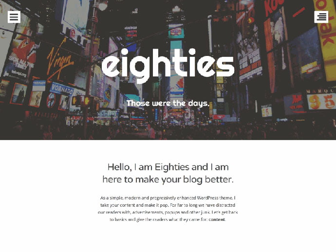 Eighties - 61+ Free Creating Responsive WordPress Themes [year]