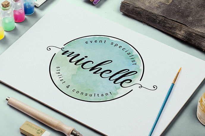 Elegant - 35+ Lovely Watercolor Logo Designs [year]