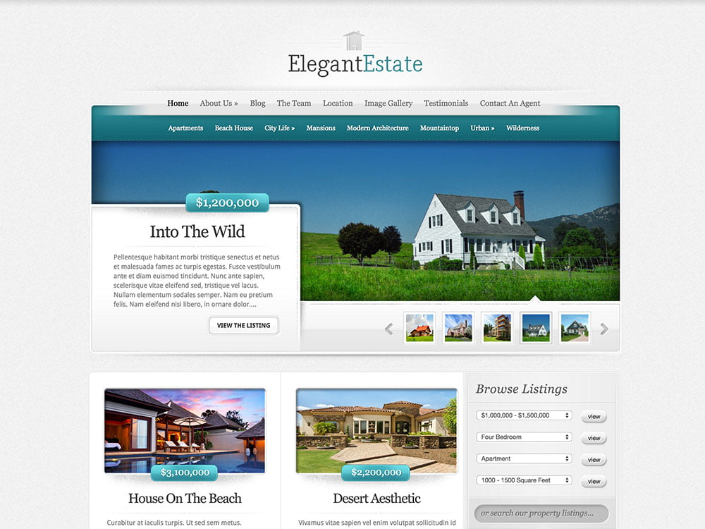 ElegantEstate - 36+ Best WordPress Real Estate Themes [year]