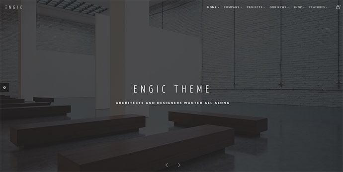 Engic - 36+ Amazing WordPress Themes For Architect Portfolio [year]