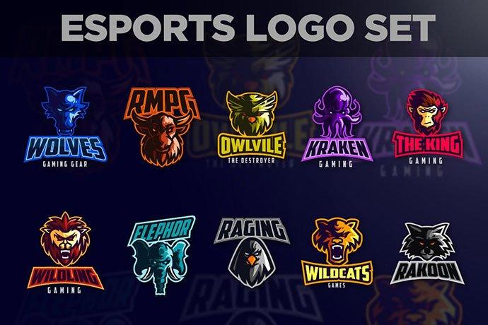 Esports-Animals-Logo-Set - 60+ Personal & Team Branding AI & EPS eSports Logo Templates [year]