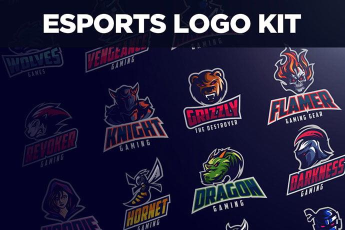 Esports-Logo-Kit - 60+ Personal & Team Branding AI & EPS eSports Logo Templates [year]