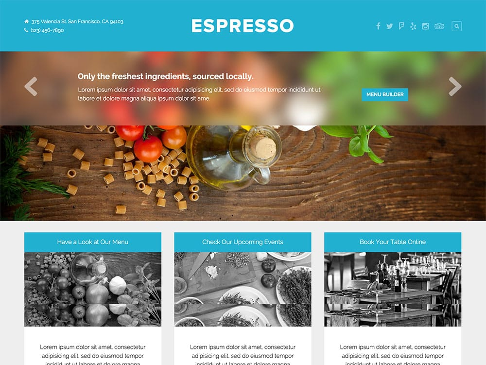 Espresso - 51+ Best Restaurant WordPress Themes [year]
