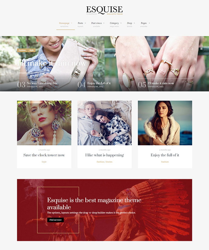 Esquise - 45+ Magazine & Blog WordPress Themes To Make Your Website [year]